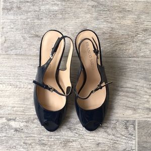 Franco Sarto Shoes - Franco Sarto Navy Blue Mary Jane Heels